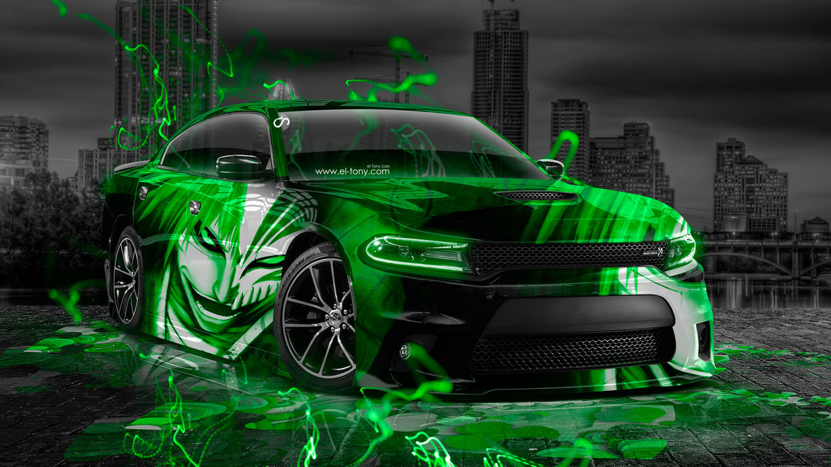 Dodge Charger RT Muscle Anime Bleach Aerography City
