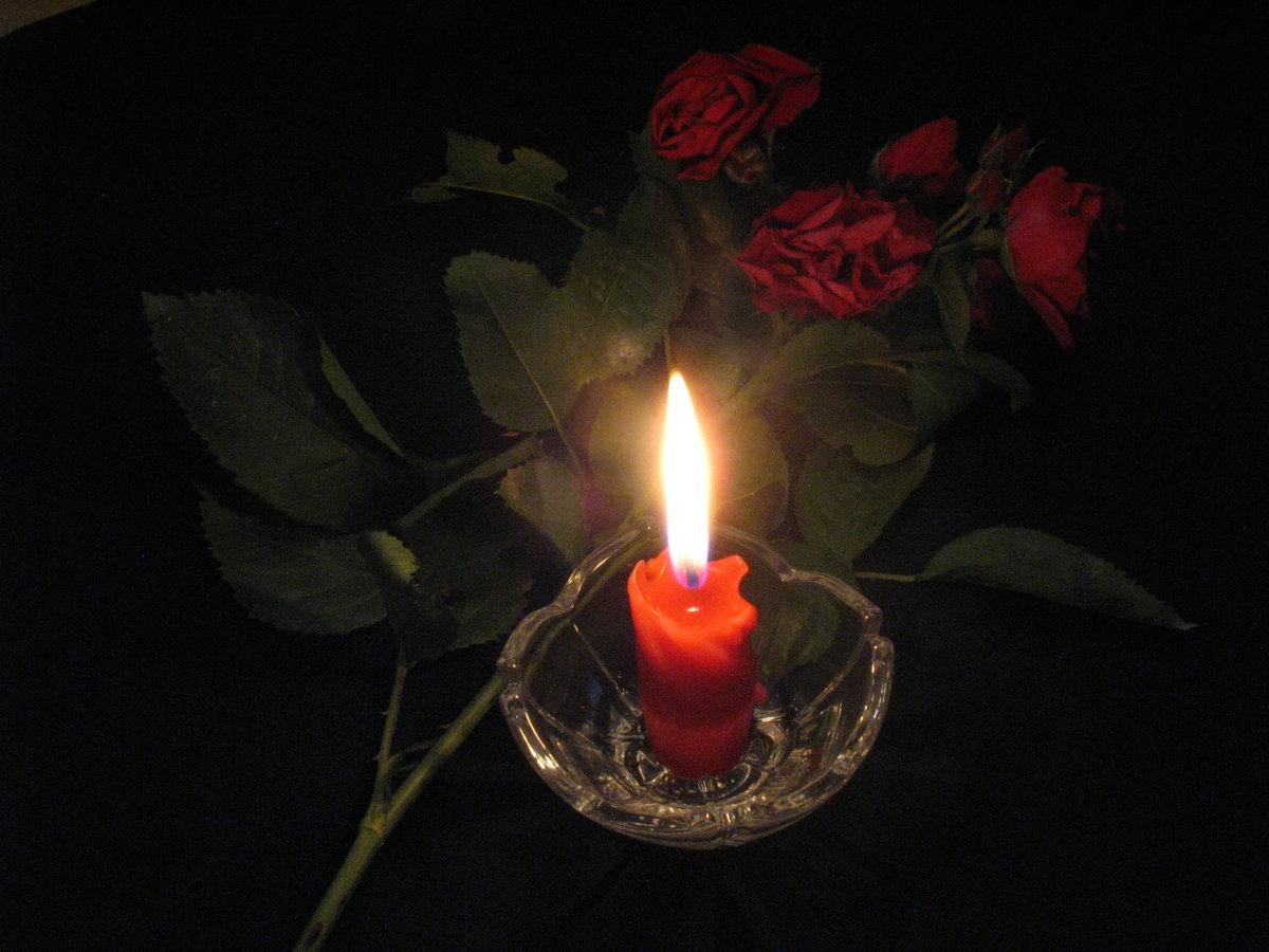 Открытки траурные свечи мерцающие, днем рождения