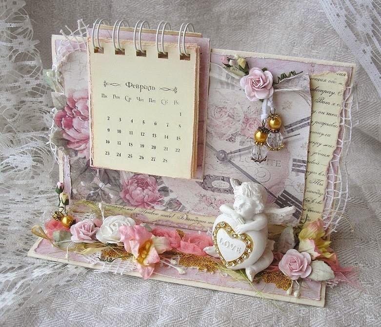 Открытка в виде календаря