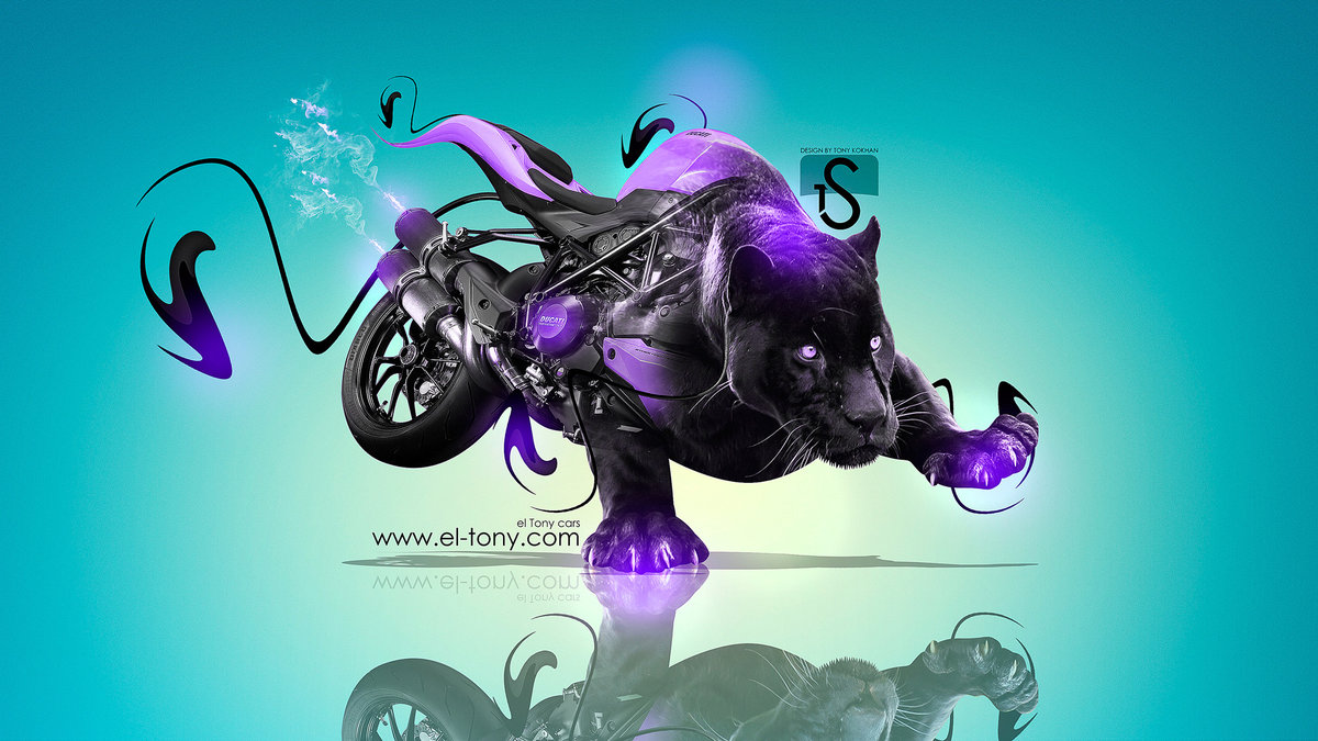 Attractive Moto Ducati Streetfighter 848 Fantasy Panter 2013 Violet