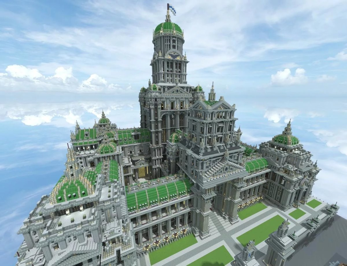 самые огромные постройки в майнкрафте