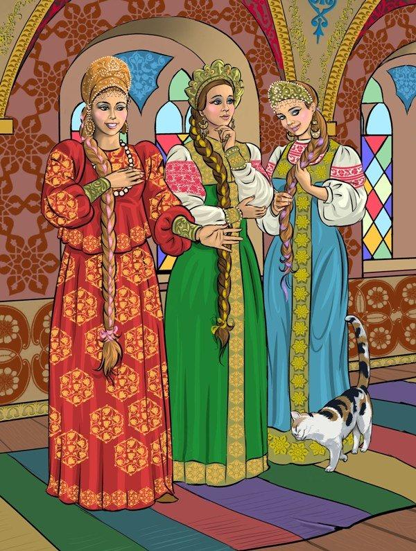 Три девицы картинки из сказки