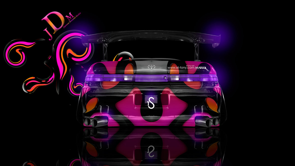 Toyota Mark2 JZX90 JDM Effects Tuning Abstract Car
