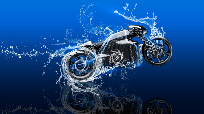 Merveilleux Moto Lotus C 01 Side Super Water Splashes