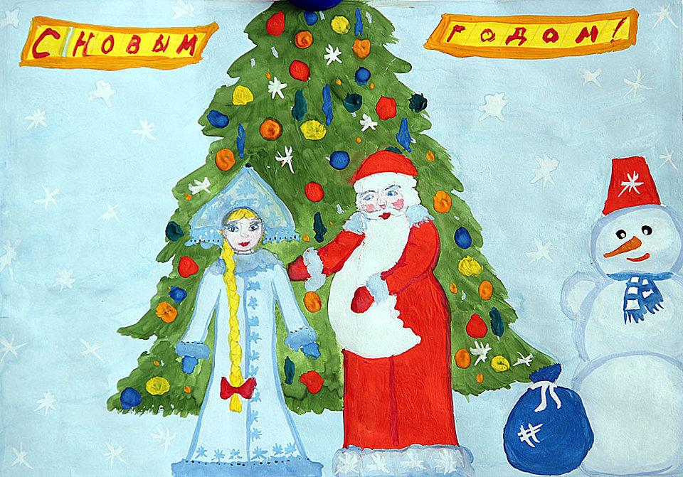 Картинки, как красиво нарисовать открытку на новый год