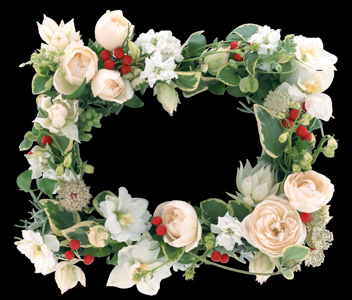 Фото в рамке из цветов