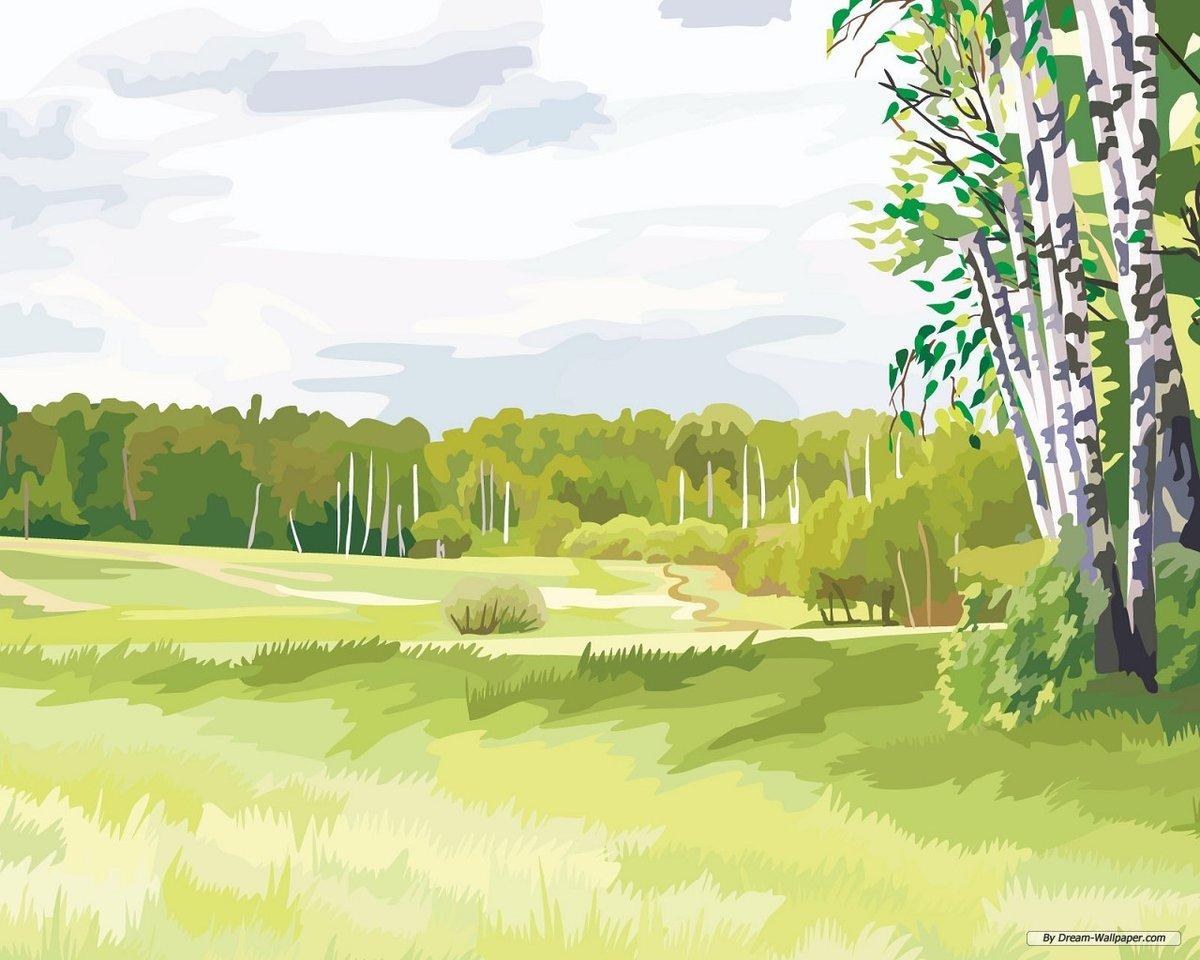 Картинки поля нарисованные
