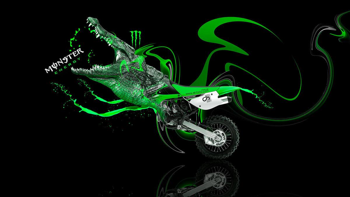 High Quality Monster Energy Moto Kawasaki Motocross KX85 Fantasy Plastic