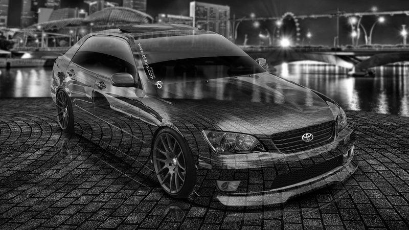 Toyota Altezza JDM Crystal City Car 2014 Photoshop