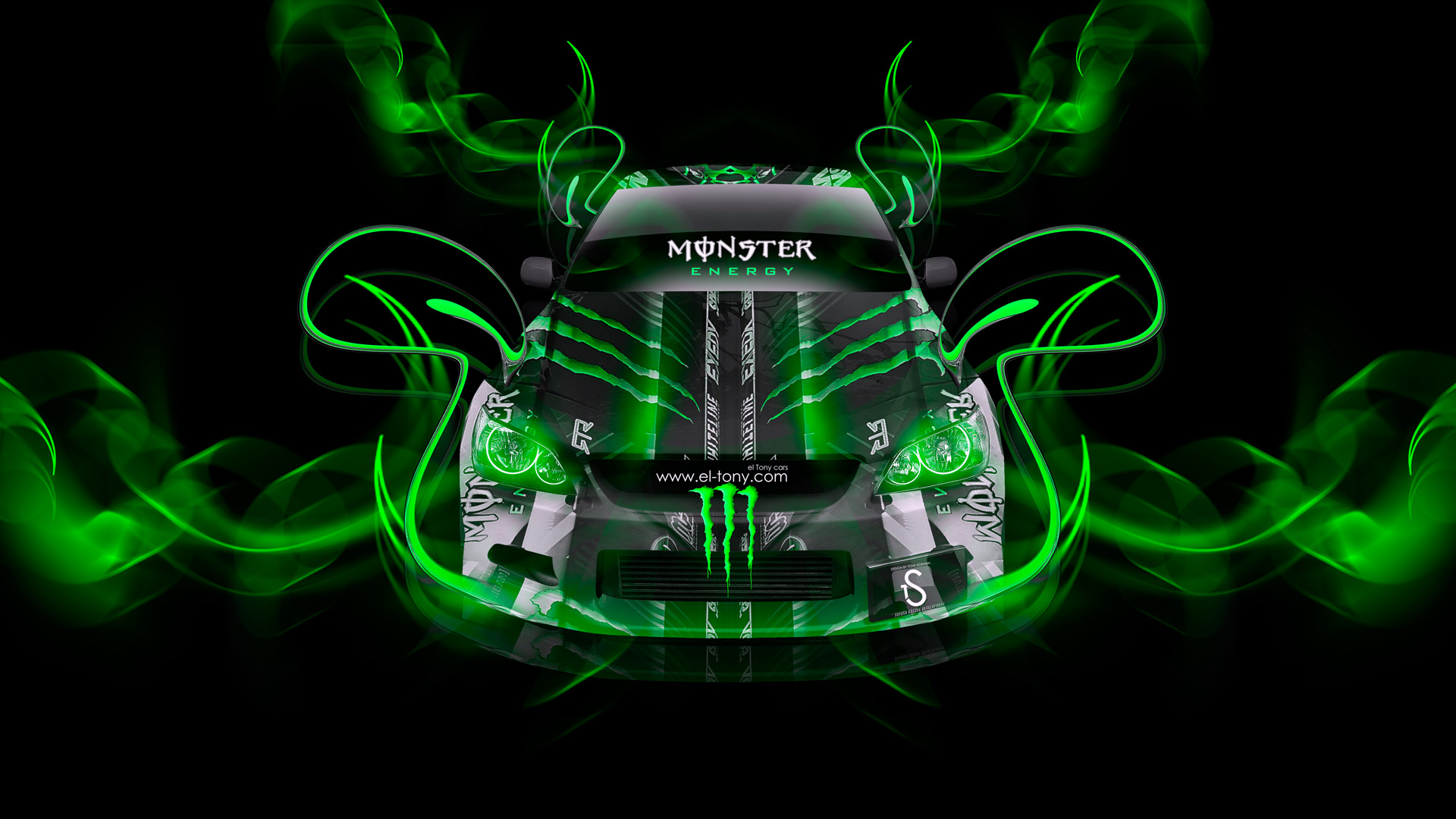 Monster Energy Toyota Altezza Green Neon Plastic Car 2014 Design By Tony Kokhan El 1920x1080