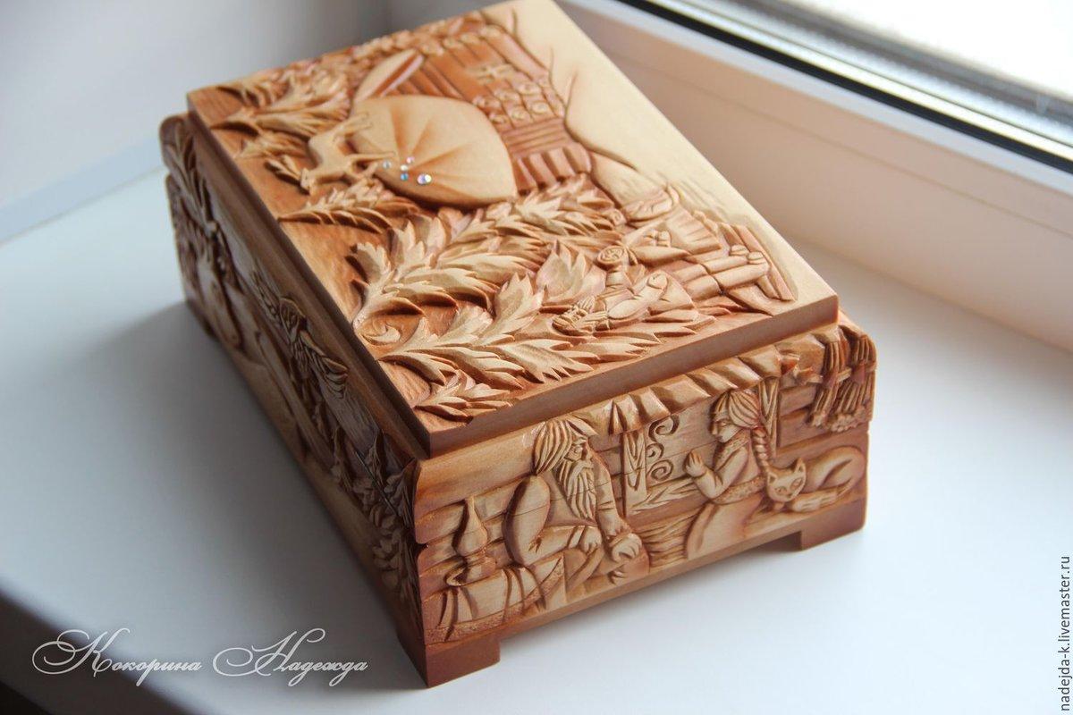 Шкатулка картинки из дерева