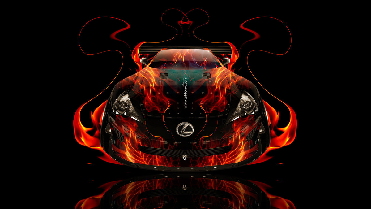 Exceptional Lexus LFA FrontUp Fire Abstract Car 2014 HD