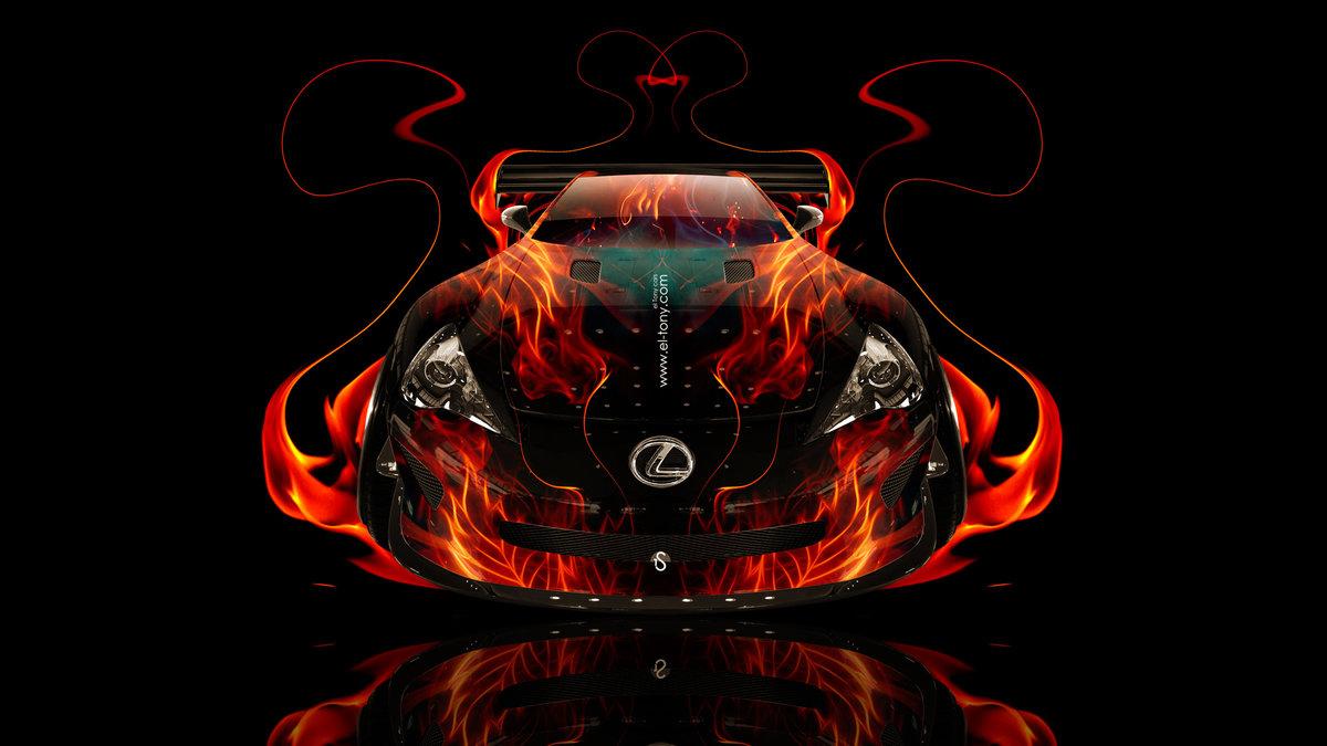 Exceptional Lexus LFA FrontUp Fire Abstract Car 2014 HD