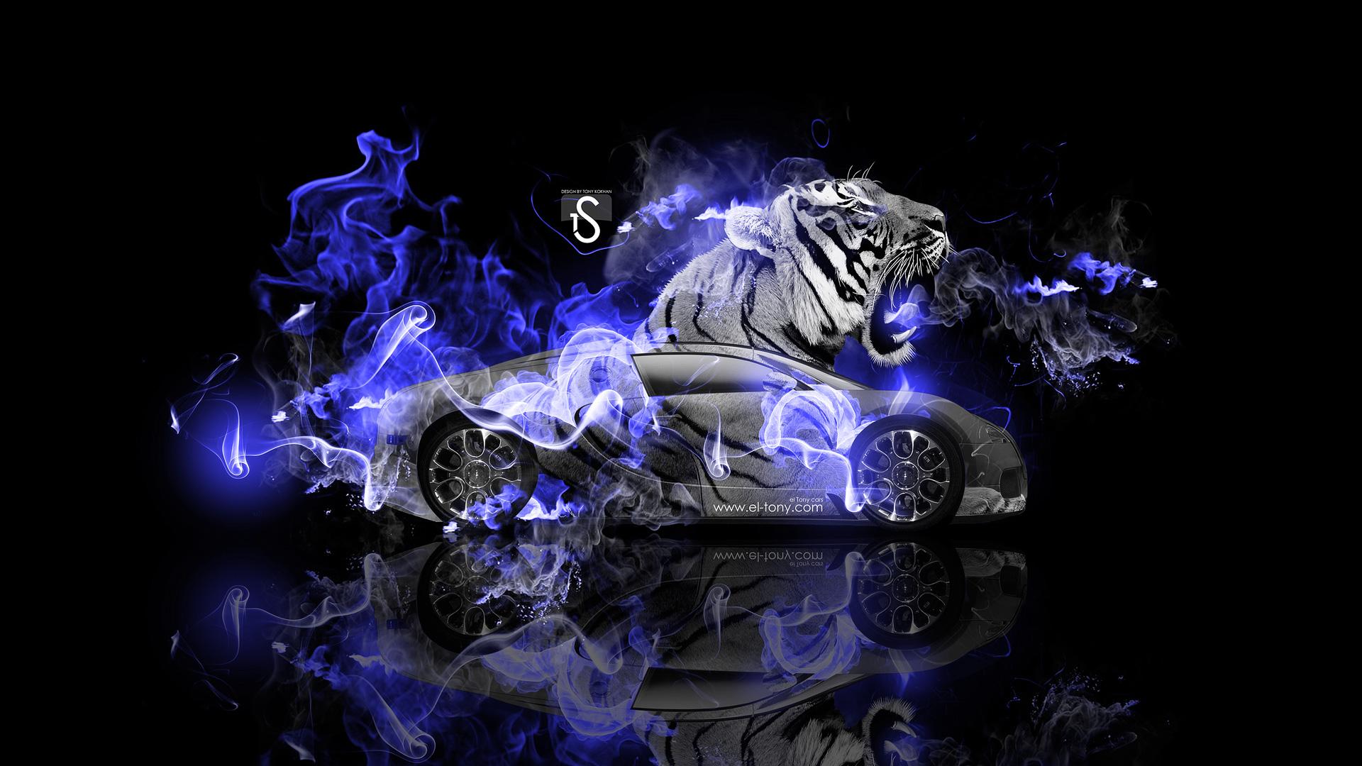 Bugatti Veyron Fantasy Tiger Blue Fire Car 2014 HD Wallpapers Design ...