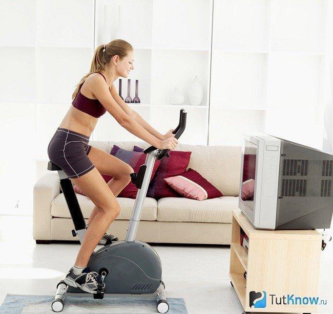 Похудел с помощью велотренажер