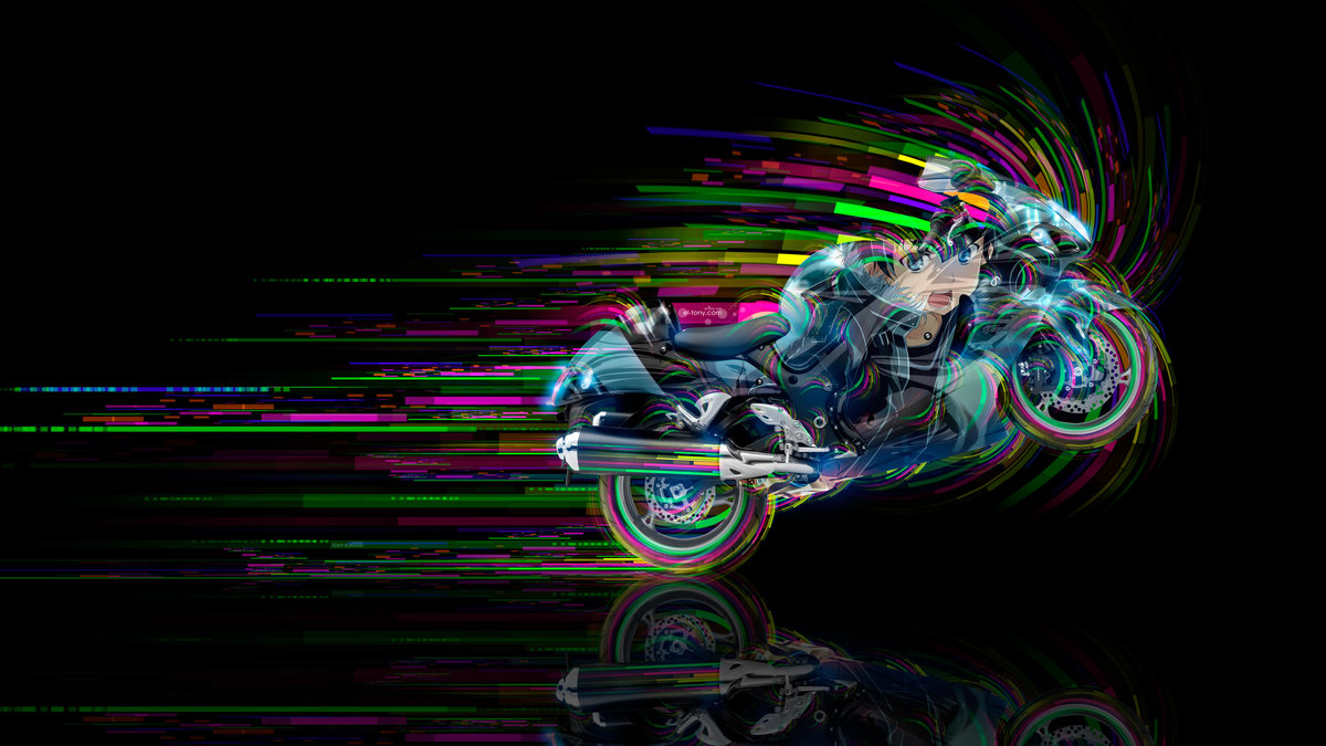 Exceptional Moto Suzuki Hayabusa Side Anime Boy Aerography Super