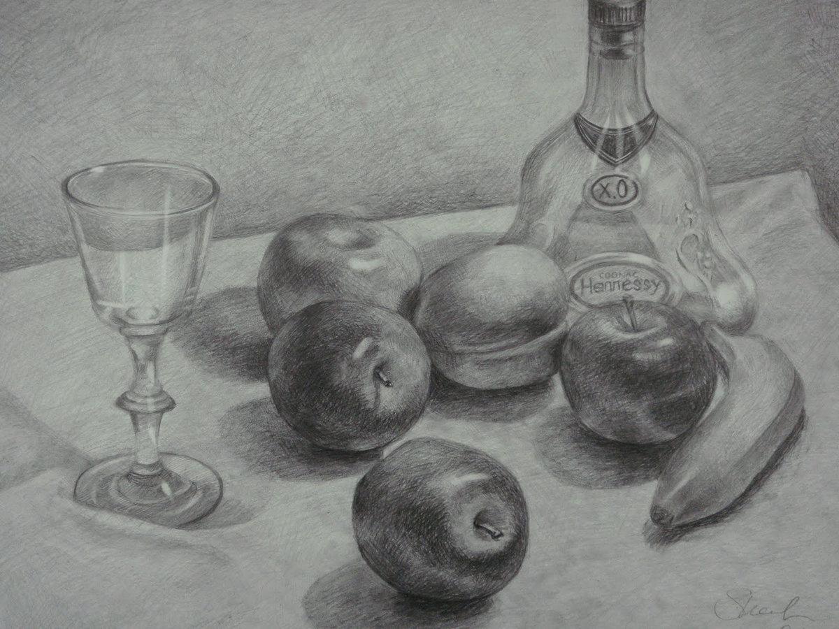 Рисунок фрукты на столе, рабочий