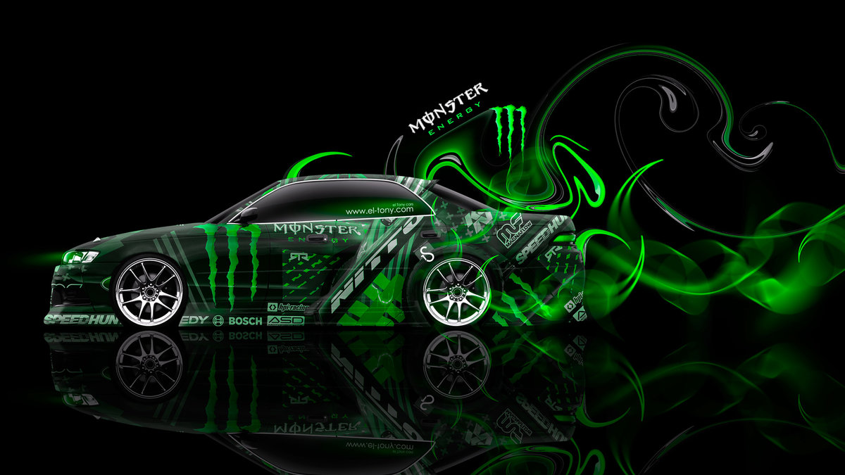 Monster Energy Toyota Mark 2 JZX90 JDM Side