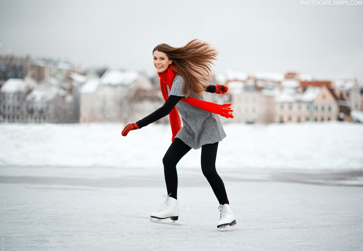 Картинки на коньках, марта цветами своими