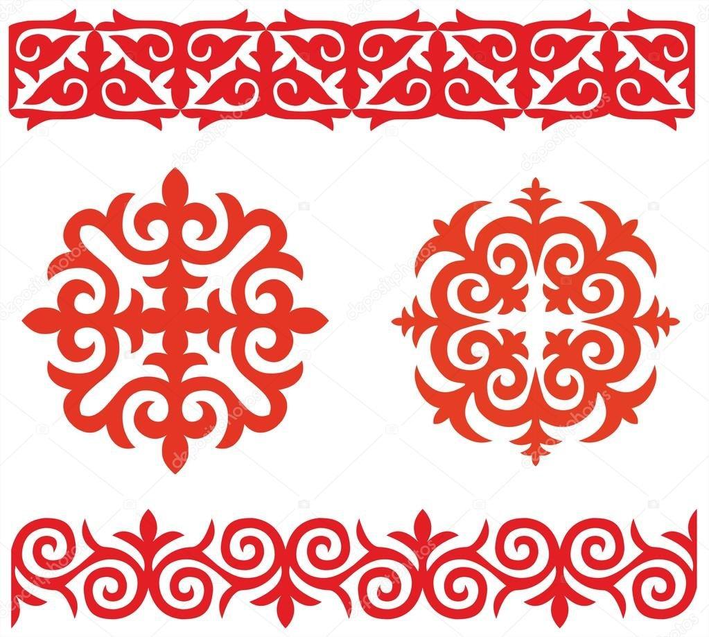 Sample kazakh patterns
