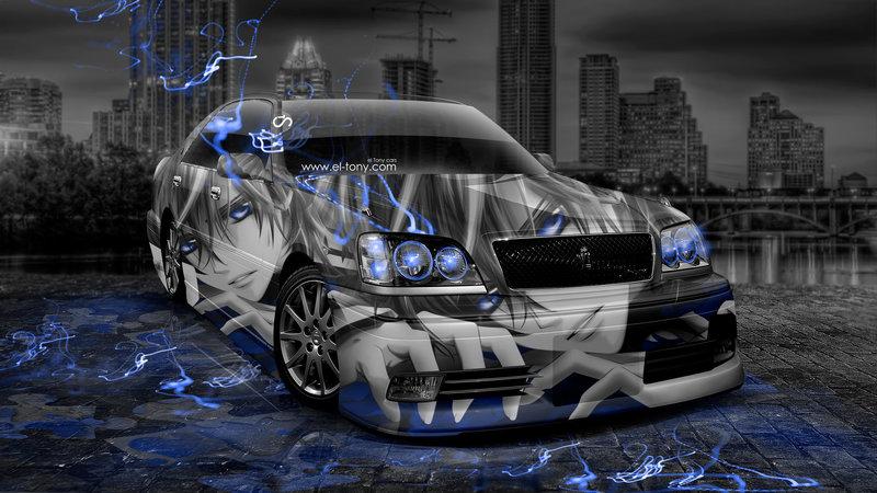 Toyota Crown Athlete JDM Anime Aerography City Car