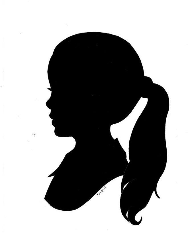Картинка девушки чб шаблон