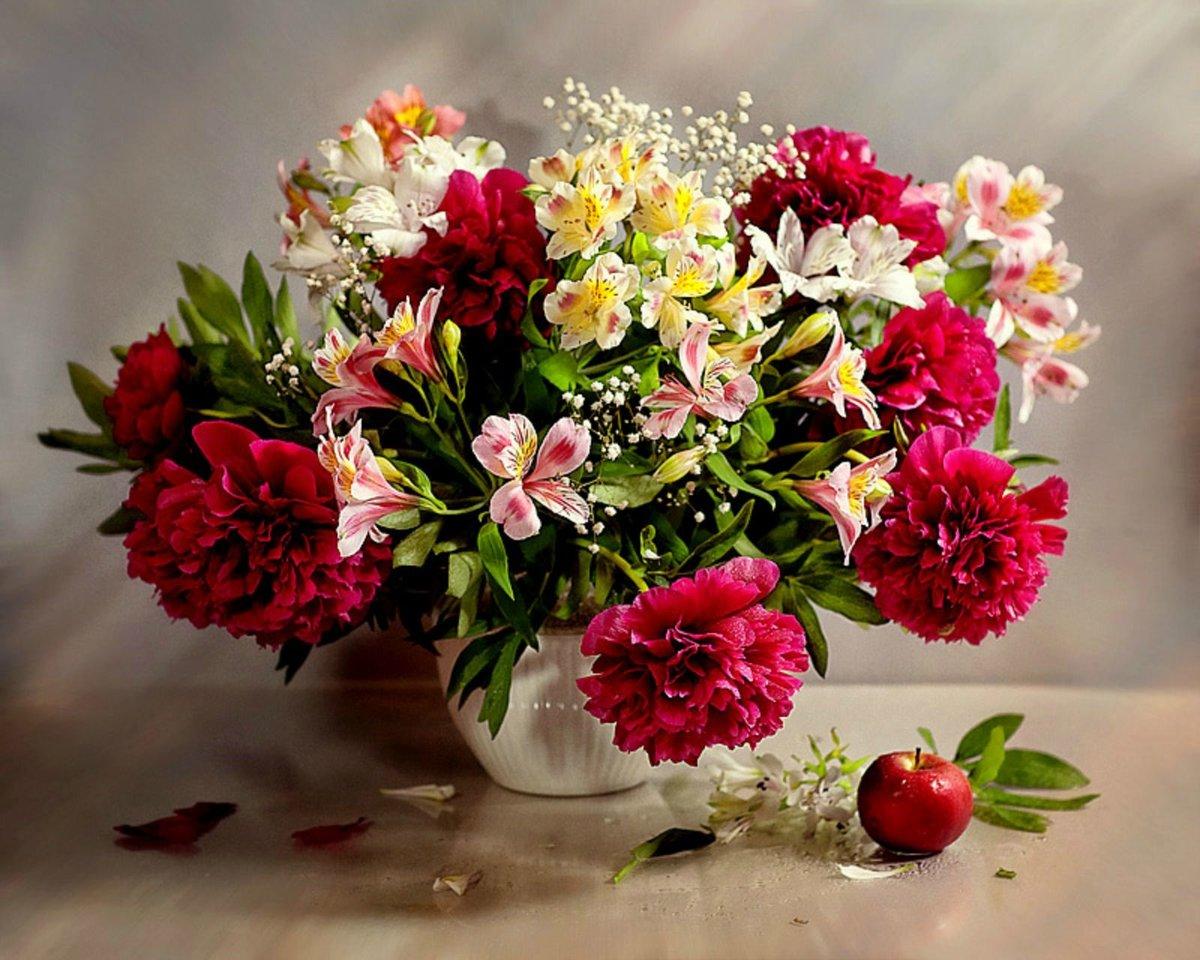 Поиск открытки с цветами, надписью спокойной ночи