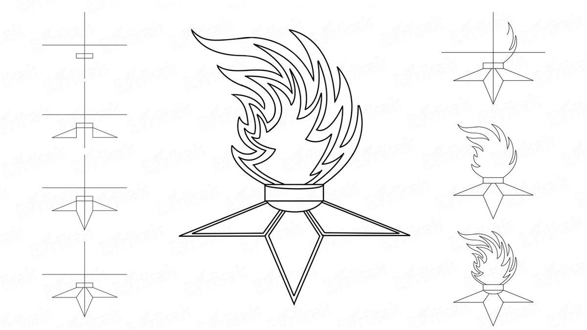 вечный огонь картинка раскраска джонка конструктивно походит