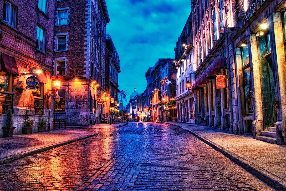 Картинки город ночью улицы, открытки лучшая открытка