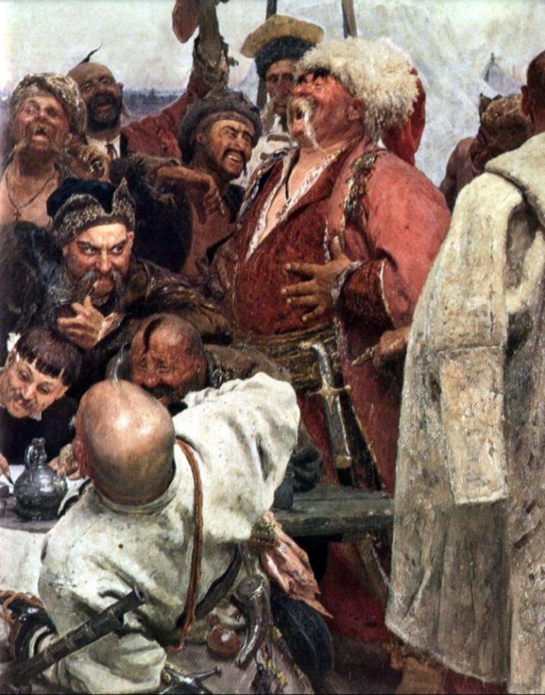 Картинки казаки пишут письмо турецкому султану