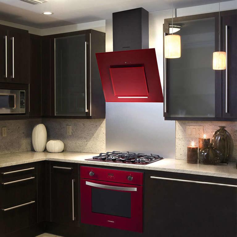век понятие дизайн кухни с наклонной вытяжкой фото магазине