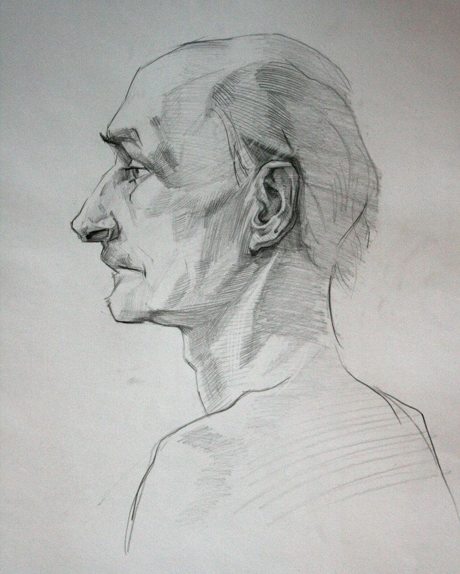 картинка профиль человека нарисован