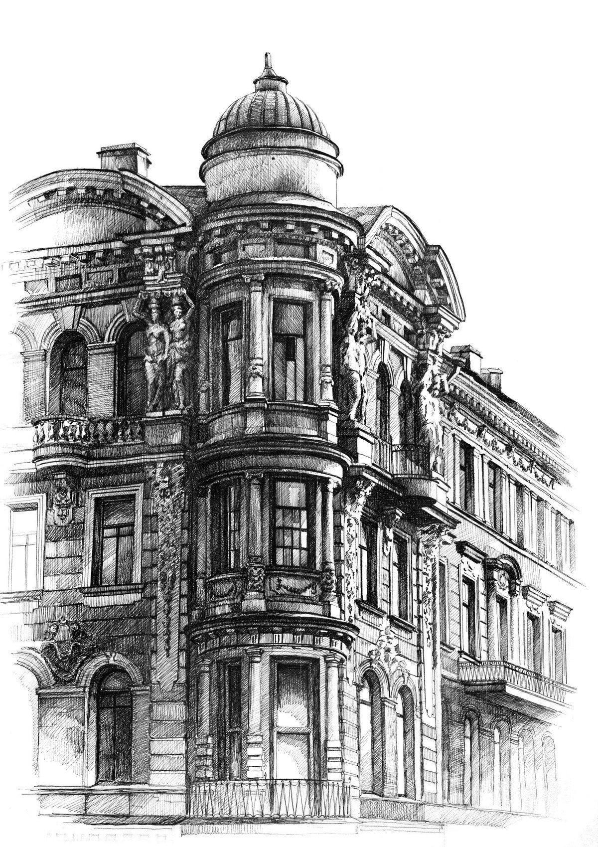 бондарчука питер черно белый рисунок любая мебель