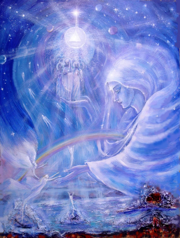 Рисунок о боге о мире и человечестве