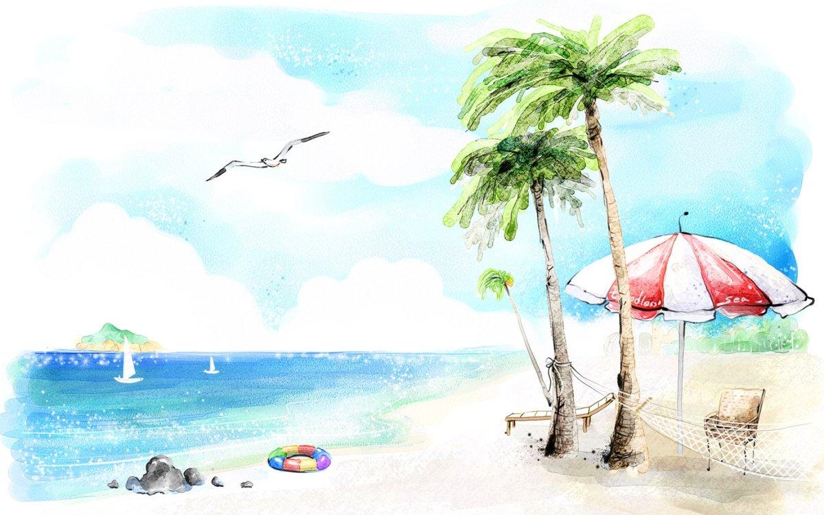 Картинки веселое лето для срисовки