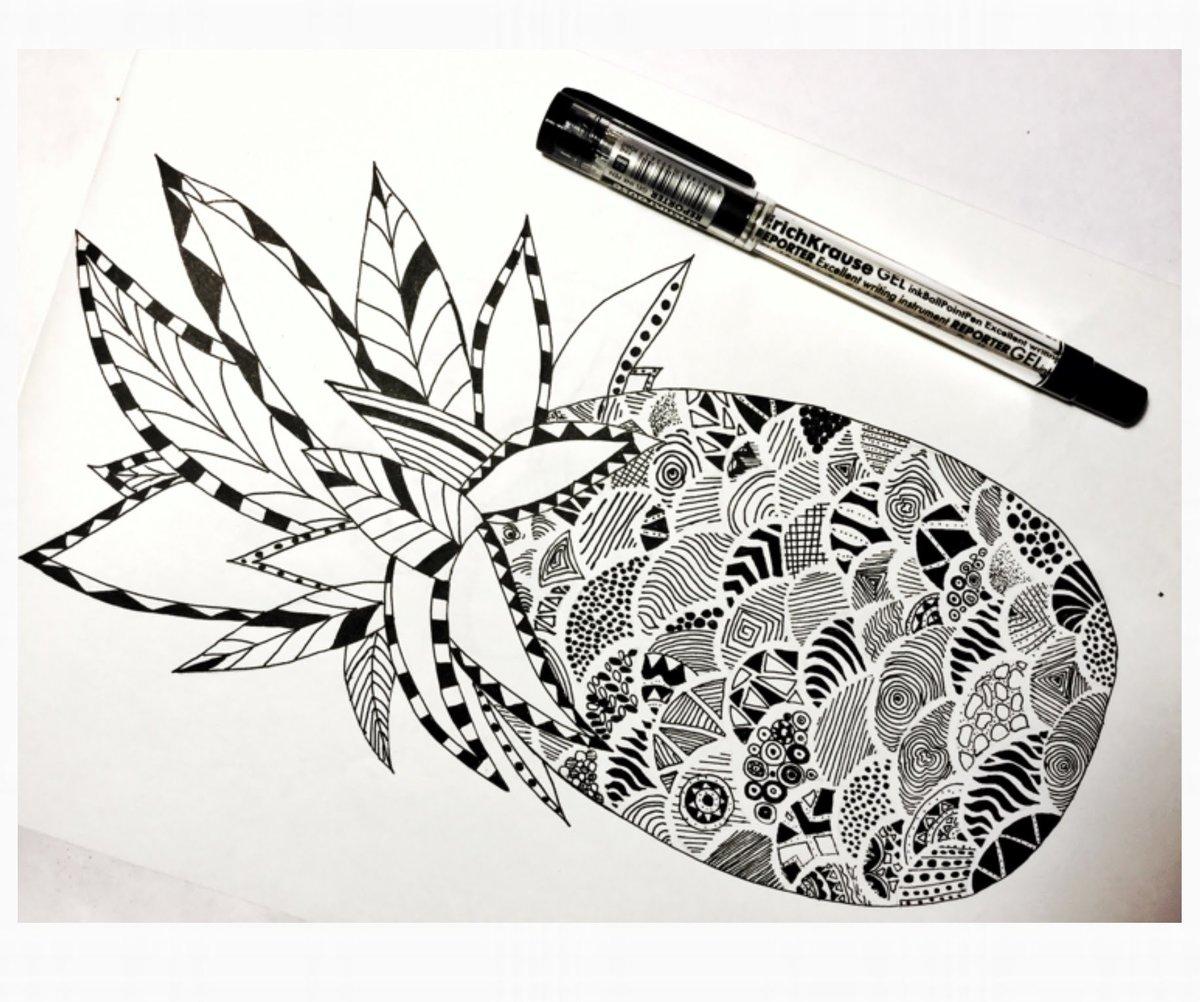 Рисунки гелевой ручкой черной легкие