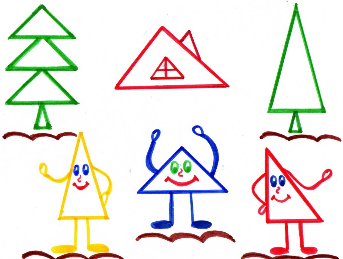 треугольник в картинках для малышей бесплатно широкоформатные