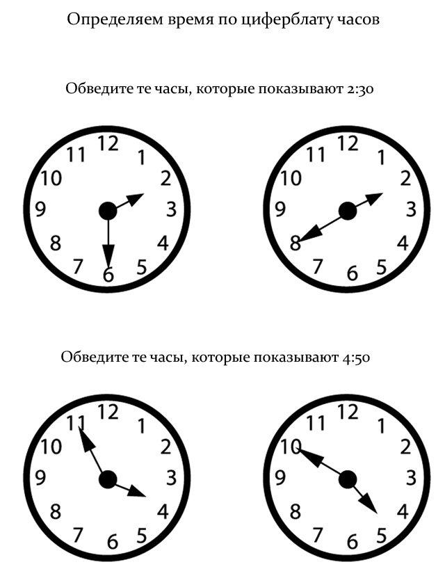 что нужно что бы часы в картинках находится