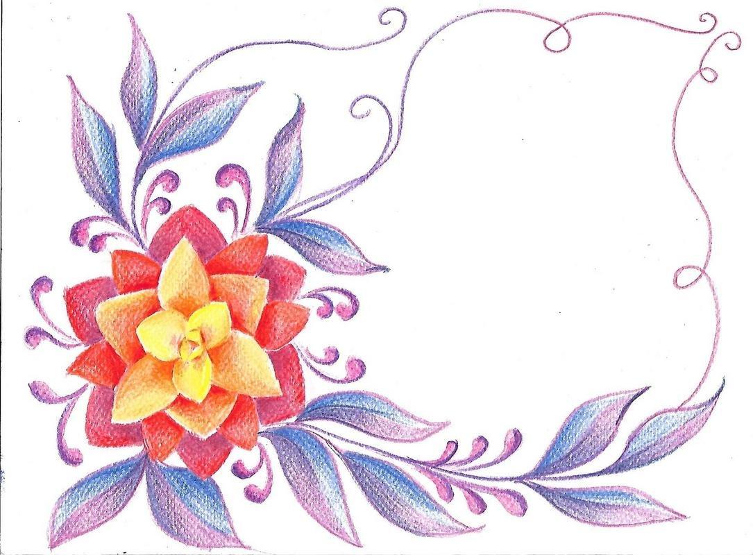 Открытки, открытки с цветными карандашами