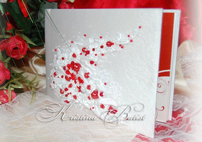 Красивый, открытка в красно белых тонах