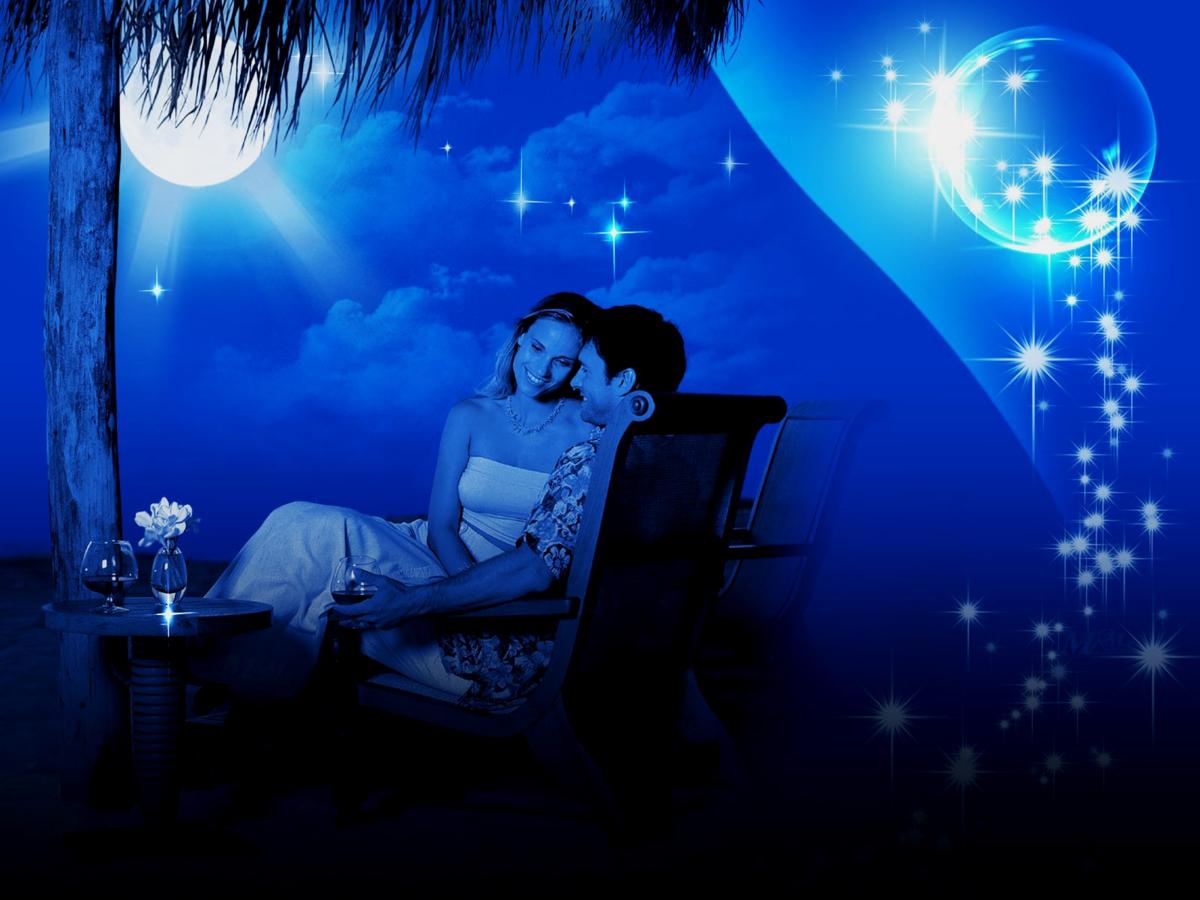 Картинки романтическая ночь, коттеджем