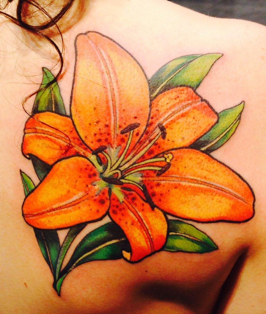 Татуировки картинки лилии