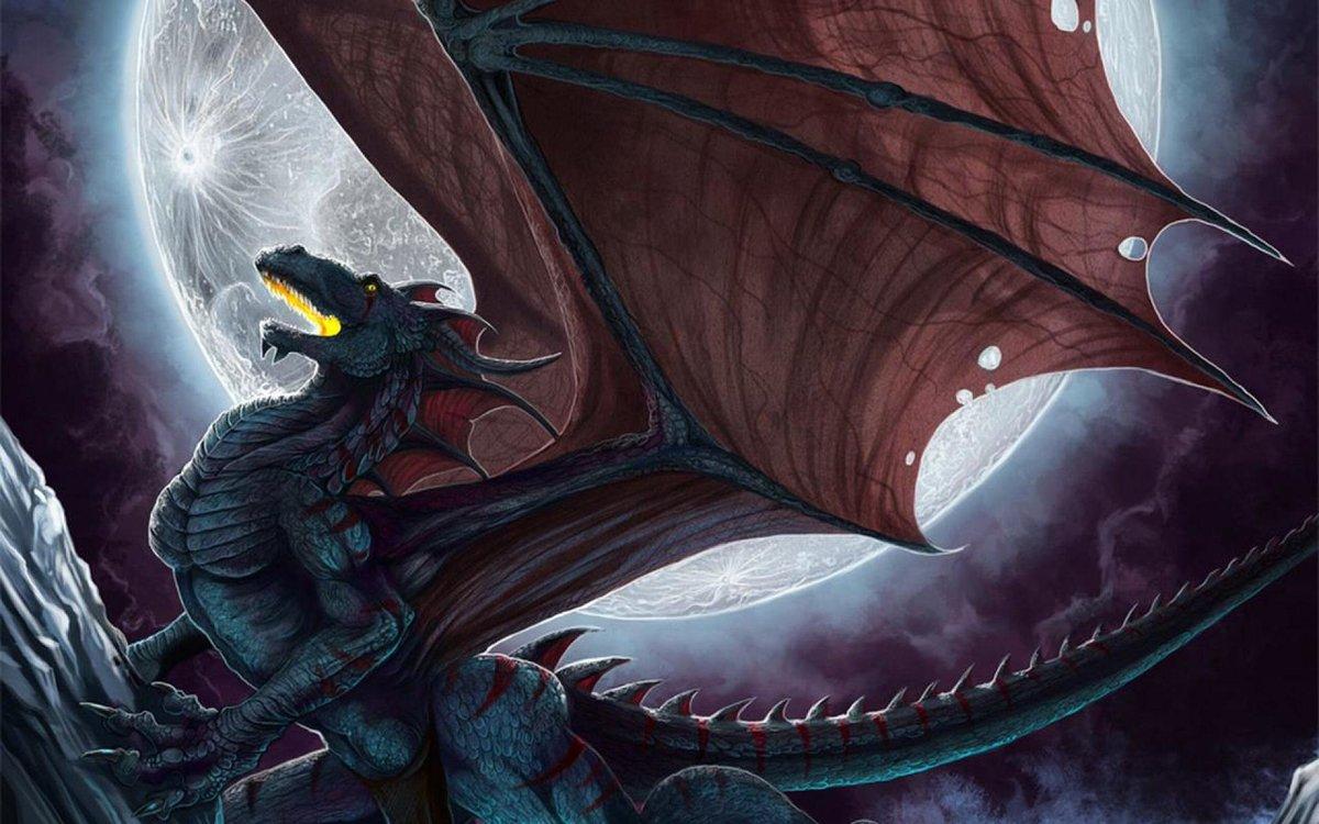 Елок для, открытка с черным драконом