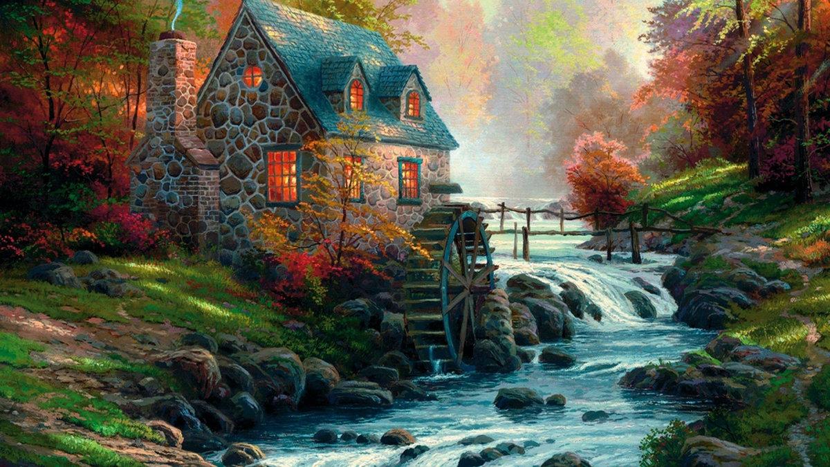 Картинки сказочный домик в лесу