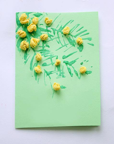 Производству открыток, открытки своими руками к 8 марта с мимозой