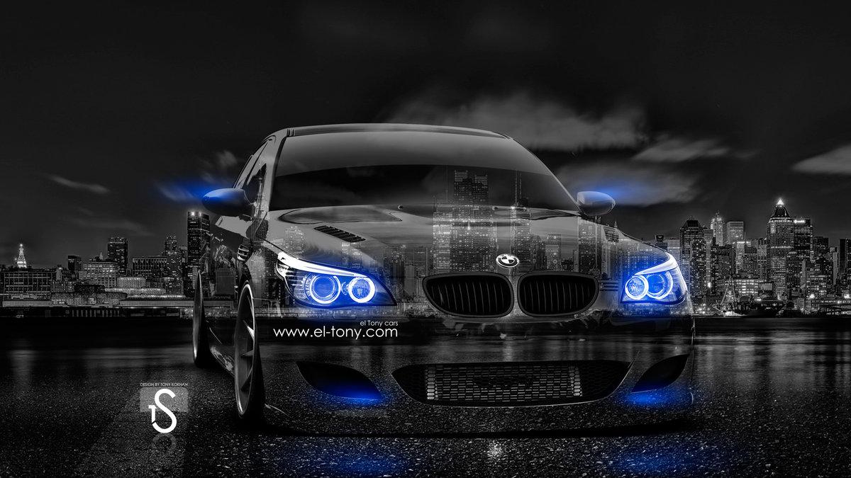 Perfect BMW M5 E60 Crystal City Car 2014 Blue