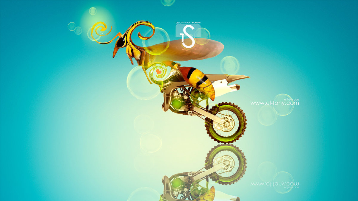 Moto Kawasaki Motocross KX85 Fantasy Bee Car 2013