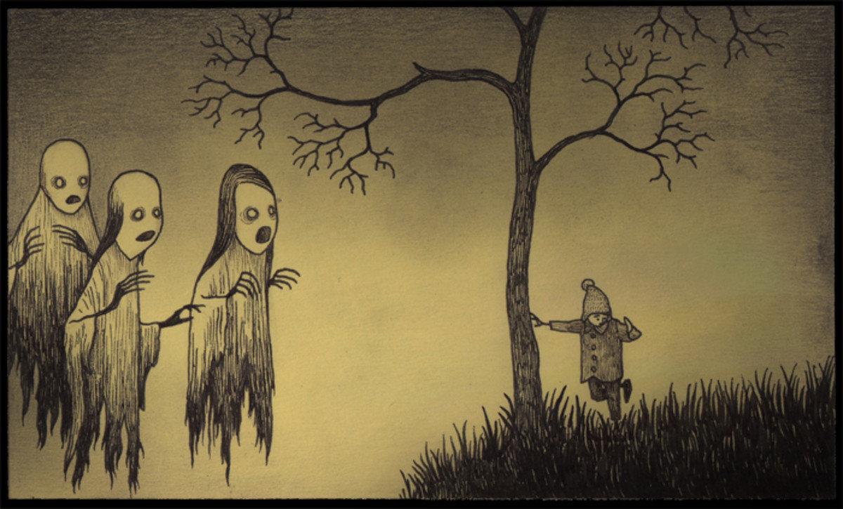 картинки которые можно нарисовать самому и напугать ими друга наполнением композиции