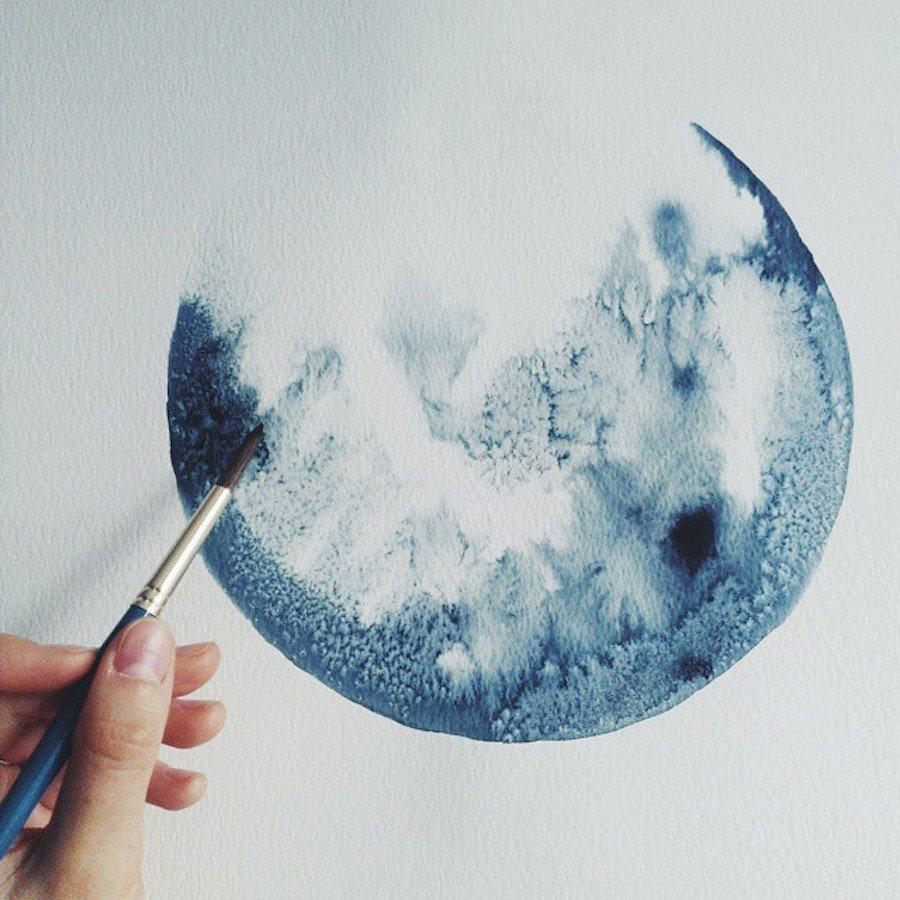 Открытки, как сделать снег на картинки из акварельных карандашей