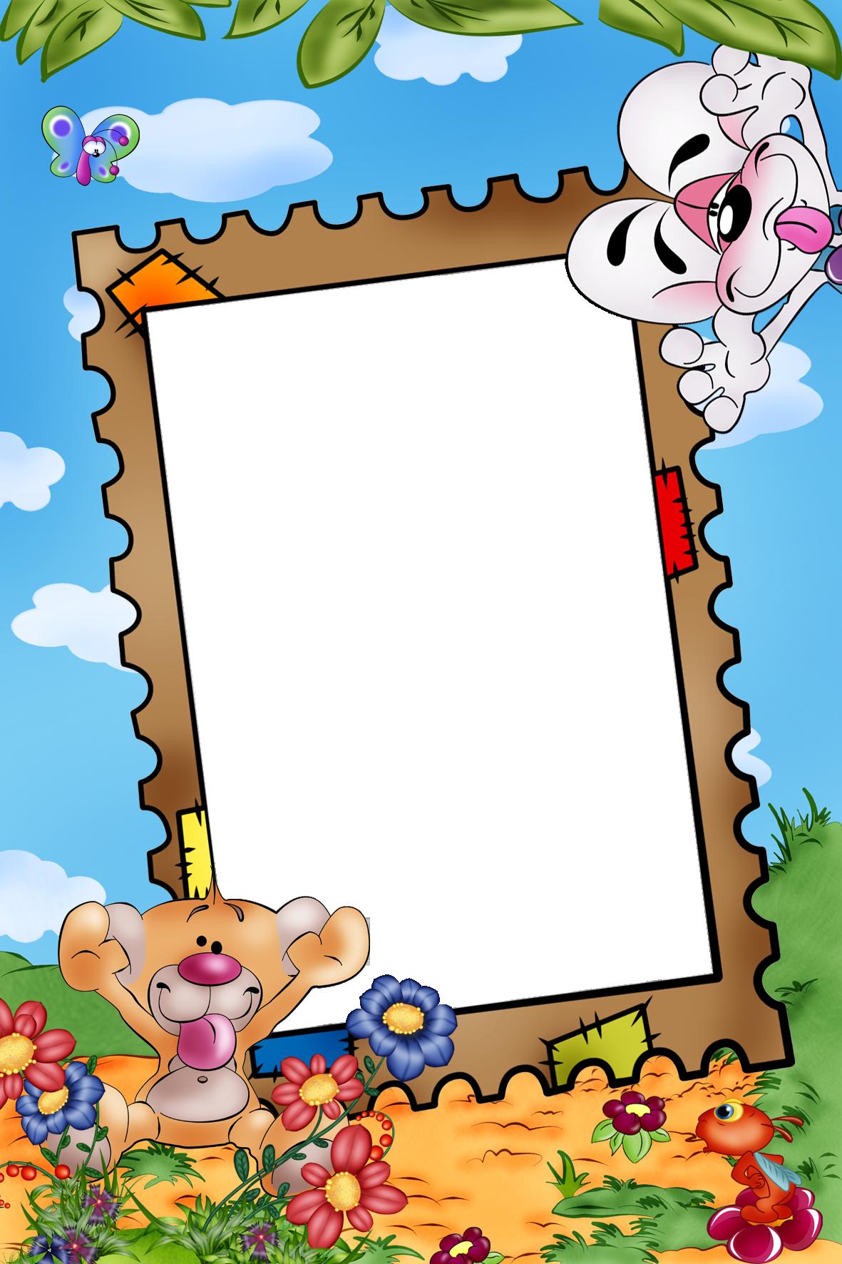Шаблоны фотошоп детские рамки
